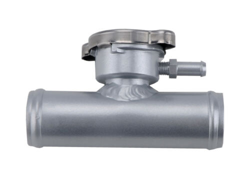 "32mm In Line Aluminum Radiator Hose Filler Neck//Cap 1-1//4/"" Hose New"