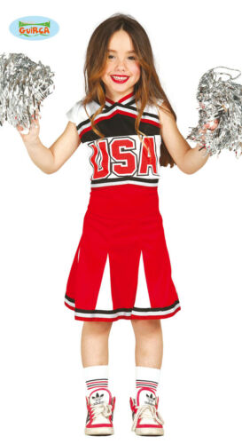 GUIRCA Costume cheerleader ragazza pom pom carnevale bambina mod 8279/_