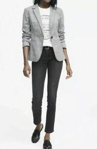 Women-s-Banana-Republic-Long-And-Lean-Gray-Blazer-Sz-4-NWT-Retails-169