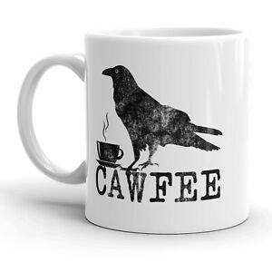 Cawfee Mug Funny Bird Crow Coffee Cup - 11oz