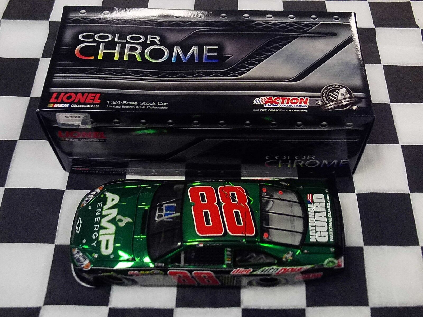 Dale Earnhardt Jr AMP Energy 2012 Impala Action NIB car color Chrome NASCAR