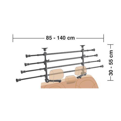 GRG-9 Compact griglia divisoria telescopica 4 elementi per al poggiatesta