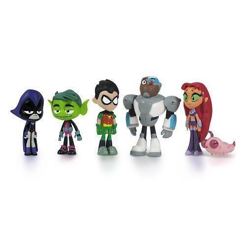 "6-Pack 2/"" Teen Titans Go Action Figure"
