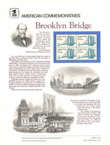 #188 20c Brooklyn Bridge #2041 USPS Commemorative Stamp Panel