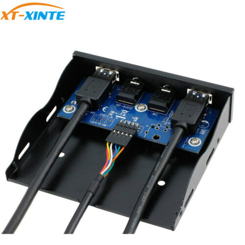 19Pin to USB 3.0 2Ports USB3.0 PC Front Panel Bracket with Cable for Desktop
