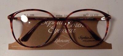 Sophia Loren 189 Demi Green 56//15 Eyeglass Frame Lot New Old Stock Vintage 5 pc