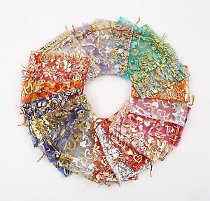 100-PCS-Organza-Jewelry-Candy-Gift-Pouch-Bags-Wedding-Party-Xmas-Favors-Decor