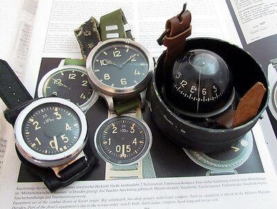 ZChZ Old USSR Soviet Navy Diver Diving Watch + Diver Compass + Diver Depth-Gauge