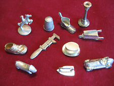 Vintage Monopoly Replacement Game Pieces, Lot of 11,Horse, car,etc FREE SHIPPING