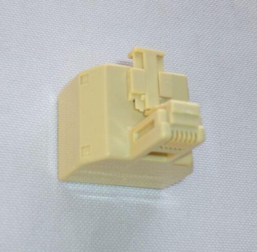 STEREN MODULAR 4C TEL T ADAPTER Bag of 25 Ivory 300-024 Telephone Plug />NEW/<