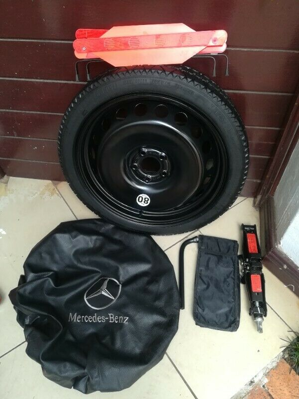 CLA 250 Brand New 19 inch Biscuit Spare Wheel with Jack Tools Bag etc
