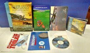 Warplanes-Mac-Big-Box-CIB-Complete-Power-Macintosh-CD-Rom-Game-Rare-Vintage