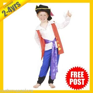 RUBIES-Boys-Costume-Fancy-Dress-Licensed-The-Wiggles-Captain-Feathersword-5116