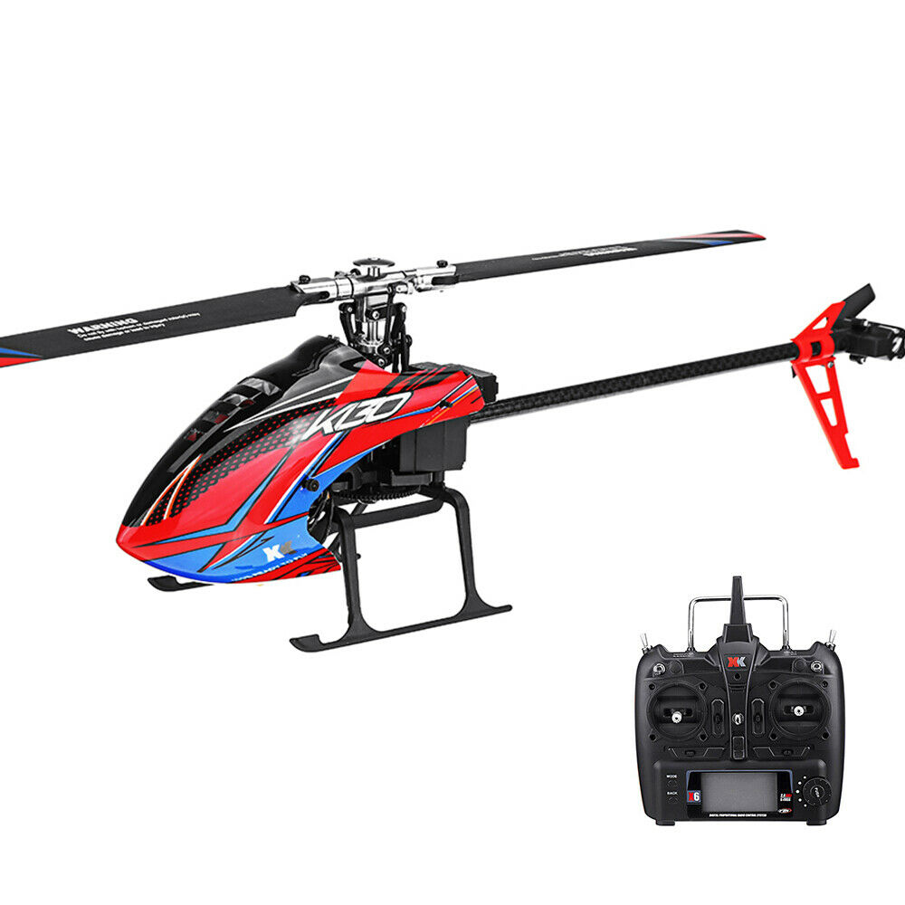 XK K130  2.4G 6CH Brushless 3D6G System Flybarless RC Helicopter RTF Compatible w  protezione post-vendita