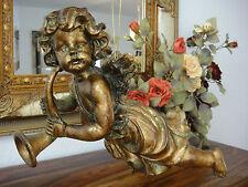 Hängefigur Engel Gold Barock Putte Antik Rokoko Wandfigur Amor Deko Skulptur NEU