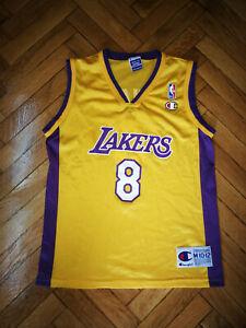 Details about Los Angeles Lakers Jersey Champion Kobe Bryant 8 Kids Shirt Basketball Vest MINT