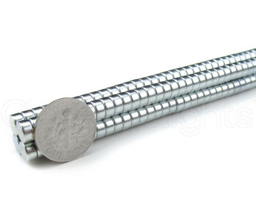 """N35 Disc Magnet 1//4/"""" x 1//8/"""" Crafts Strong 6mm x 3mm Neodymium Magnets"""