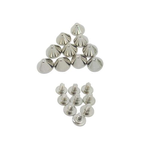 10 Set Alloy Spikes Nieten Stud Spots für Kleidung Leder Craft Decor 9x6mm