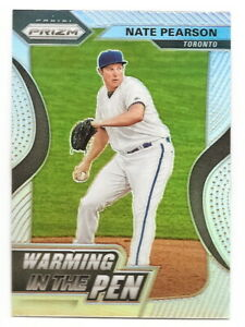 2020-PRIZM-NATE-PEARSON-WARMING-IN-THE-PEN-SILVER-PRIZM-INSERT-BLUE-JAYS