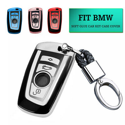 3 /& 4 BUTTON KEY FOB REMOTE CASE COVER For BMW 1 2 3 5 7 SERIES F10 F20 F30 TPU