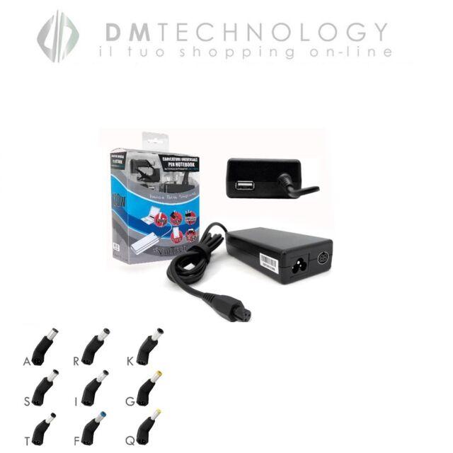 Alimentatore Universale Notebook USB 2.1A CASA/AUTO 12v Vultech AU-120WFULL