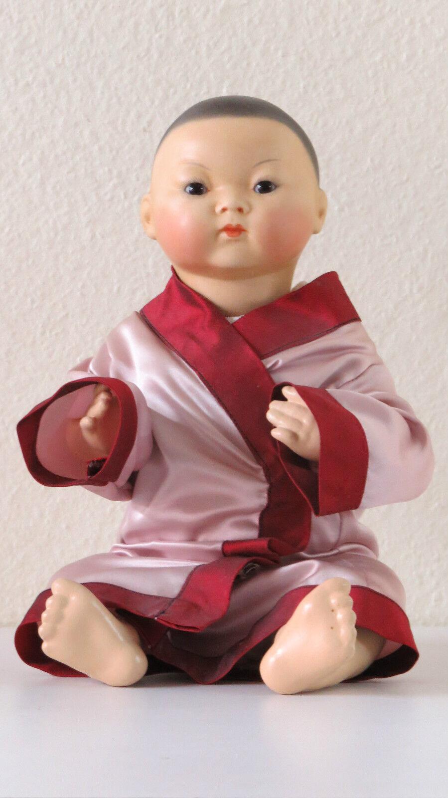 Asiática   A.M  36 cm 14,5 Pulgadas Muñeca Antigua Reproducción Antique doll