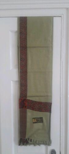 Yéménite arabe Cachemire Gris Châle Shemagh pakistanais foulard Soufi écharpe chiites