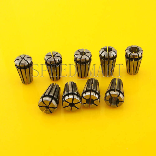 9pcs ER8 Spring Collet Chuck Tool Set Precision CNC 1 1.5 2 2.5 3 3.5 4 4.5 5mm