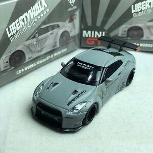 1-64-TSM-Model-MINI-GT-Nissan-Skyline-LB-Works-GTR-R35-Matte-Grey-RHD