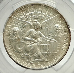 1937-S-TEXAS-Independence-Commemorative-Silver-Half-Dollar-Coin-PCGS-MS-i76467