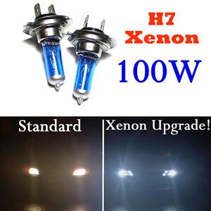 H7-Xenon-100W-Coche-Faro-Lampara-Bombilla-bulbo-Headlight-Luz-de-Cruce-Blanco