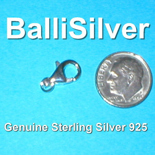 Genuine 925 Sterling Silver 13mm LOBSTER CLAW Trigger CLASP