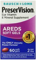 2 Pack - Bausch & Lomb Preservision Soft Gels 60 Soft Gels Each on sale