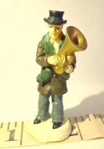 Victorian-Village-Tuba-Player-Man-Christmas-Grandeur-Noel-1999-Replacement