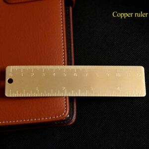 Brass Bookmarks Scale Portable Vintage Copper Ruler Mini EDC Tool Outdoor*
