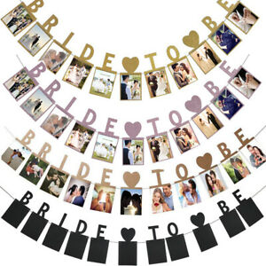 Bride-To-Be-Hen-Do-Party-Photo-Bunting-Banner-Garland-Decor-Wedding-Bridal-Props