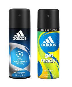 Combo Of 2 Adidas Deodorant- Champion League & Get Ready