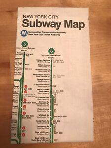 1990 Subway Map.Details About Vtg 1990 Nyc New York City Subway Map Pocket Mta Guide Nycta