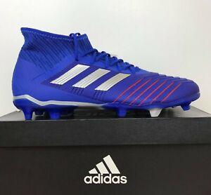 03bb61a41 Adidas Predator 19.2 FG Soccer Cleats Blue Red White BB8111 Men s ...