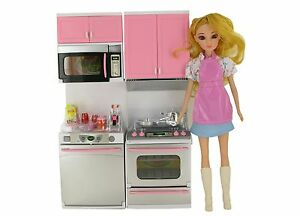 Baby Doll Set Princess Girl Beautiful Doll Play Set Kitchen Set