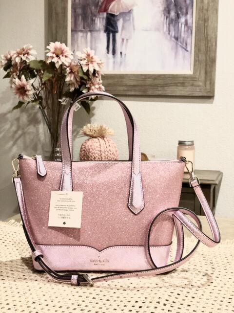 Kate Spade Lola Joeley Glitter Ina Small Satchel Crossbody Bag Rose Pink