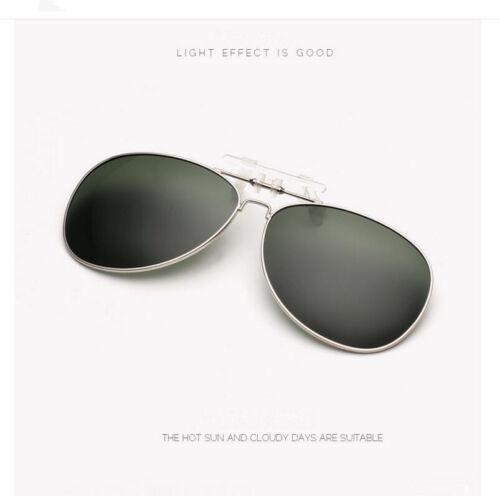 Sonnenschutz Brillen Aufsatz Clip on POLARISIERT Überbrille ideal zum AUTOFAHREN