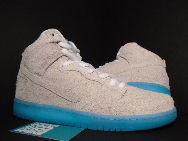 2014 Nike Dunk High Premium SB CHAIRMAN BAUHAUS BAO WHITE POLARIZED blueE NEW 10