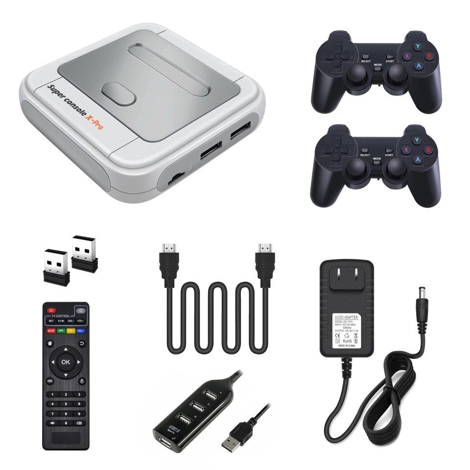 Super Console-X Pro 4K HDMI WiFi Retro HD TV Video Game Console with 128 GB SD