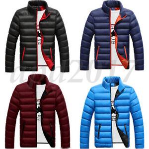 Winter-Herren-Jacke-Steppjacke-Bomberjacke-Parka-Windbreaker-Slim-Warm-Zipper-PD