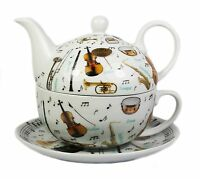Making Music Fine China Afternoon Tea For One Set Teapot Cup Saucer NEW