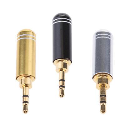 2,5mm Stecker Audio Jack Stecker vergoldet Metall Kopfhörer Adapter Löten