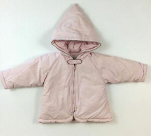 8a4fc5e09 Jacadi Paris Size 12 Months 74 CM Light Pink Puffy Winter Hooded ...