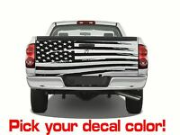 Universal 66 X 24 Usa Flag Tailgate Vinyl Sticker Decal - Choose Color Truck