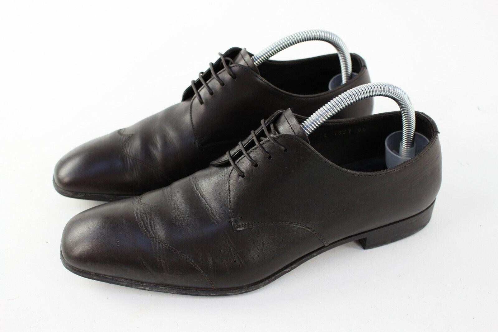 Prada Dark Brown Leather Men's Shoes Sz 8.5 UK
